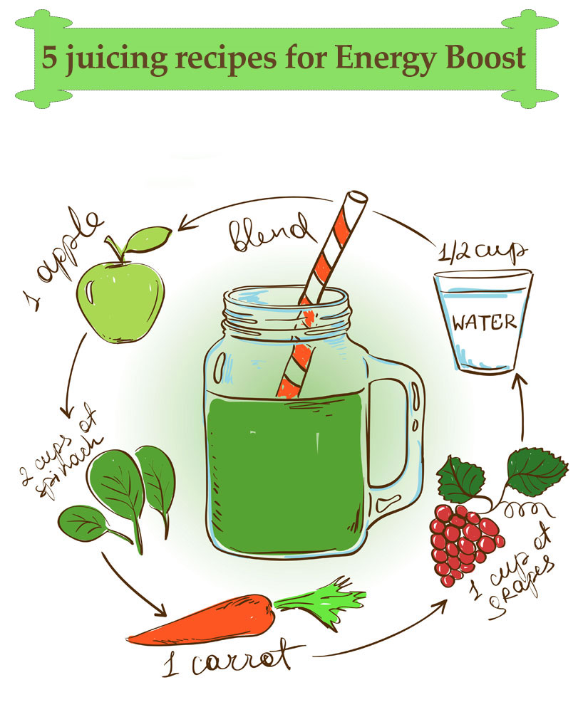 5 juicing recipes for an Energy Boost